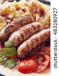 Sausage And Mush Dish With...