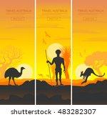set of australian travel... | Shutterstock .eps vector #483282307