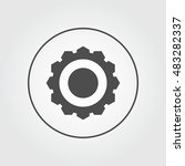 cog wheel icon with ring for...