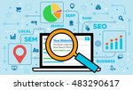 seo concept with laptop and...   Shutterstock .eps vector #483290617