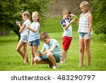 childhood  augmented reality ... | Shutterstock . vector #483290797