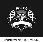 vector illustration emblem... | Shutterstock .eps vector #483291733