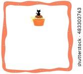 halloween cupcake   cat | Shutterstock . vector #483303763