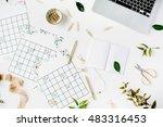 wedding planner schedule... | Shutterstock . vector #483316453