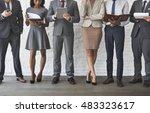 business team working research... | Shutterstock . vector #483323617