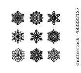 set of snowflakes. vector...   Shutterstock .eps vector #483332137