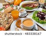 breakfast table | Shutterstock . vector #483338167