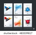 brochure template layout  cover ... | Shutterstock .eps vector #483339817
