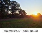 Sunrise Hidden Behind A Tree I...