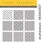 Set Of Vector Street Pavements...