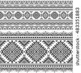 ethnic seamless monochrome... | Shutterstock .eps vector #483351883