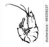 shrimp icon. shrimp in vector... | Shutterstock .eps vector #483358237