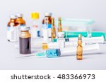 syringes with ampules of drugs | Shutterstock . vector #483366973