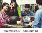 indian ethnicity friendship... | Shutterstock . vector #483380413
