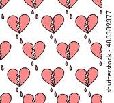 Seamless Doodle Pattern. Broke...