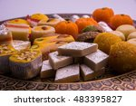 indian festival sweet food or... | Shutterstock . vector #483395827