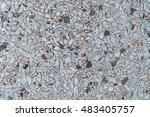 gray gravel concrete texture... | Shutterstock . vector #483405757