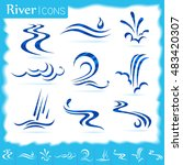 different pattern of water flow | Shutterstock .eps vector #483420307