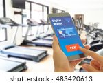 digital wallet to pay for goods ... | Shutterstock . vector #483420613