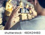 travel trip  vacation camera... | Shutterstock . vector #483424483