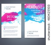 abstract vector brochure... | Shutterstock .eps vector #483425503