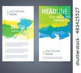 abstract vector brochure... | Shutterstock .eps vector #483425527