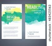 abstract vector brochure... | Shutterstock .eps vector #483425563