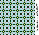 abstract geometric flower... | Shutterstock .eps vector #483437857