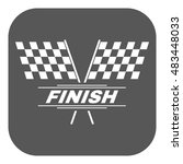 the race flag icon. finish... | Shutterstock . vector #483448033