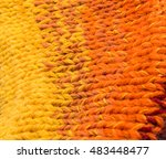 striped colorful wool texture... | Shutterstock . vector #483448477