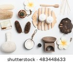 aromatherapy  product  spa set  ... | Shutterstock . vector #483448633