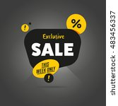 exclusive sale advertising... | Shutterstock . vector #483456337