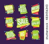 sale isolated banners set. best ... | Shutterstock . vector #483456343