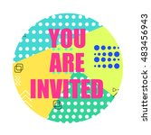 you are invited modern flyer.... | Shutterstock .eps vector #483456943