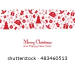 christmas greeting card | Shutterstock .eps vector #483460513