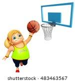 3d rendered illustration of kid ... | Shutterstock . vector #483463567