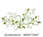 a bouquet of orchids. vector... | Shutterstock .eps vector #483477607