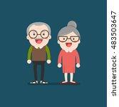 retired elderly senior age... | Shutterstock .eps vector #483503647