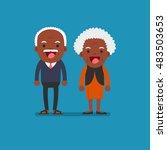 african american people  ... | Shutterstock .eps vector #483503653