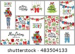 new year  christmas designs.... | Shutterstock .eps vector #483504133