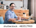 my occupation. portrait of... | Shutterstock . vector #483517903