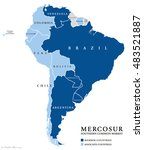 mercosur southern common market ... | Shutterstock .eps vector #483521887