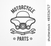 abstract motorcycle shop or... | Shutterstock .eps vector #483526717