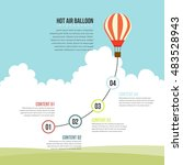 vector illustration of hot air... | Shutterstock .eps vector #483528943