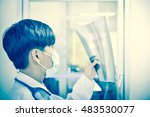 asia scientist working in... | Shutterstock . vector #483530077