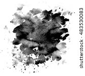 watercolor texture. black ink... | Shutterstock . vector #483530083