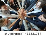 let us join our hands | Shutterstock . vector #483531757