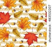 happy autumn vector seamless... | Shutterstock .eps vector #483532207