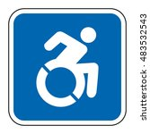 blue square handicapped sign...   Shutterstock .eps vector #483532543