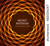 abstract orange circle wavy... | Shutterstock .eps vector #483534247